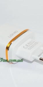 Мережевий ЗП LDNIO DL-AC52 (2.4A, 2USB) з кабелем microUSB
