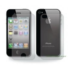 Захисне скло iPhone 4 / 4S 2in1 (front+back)