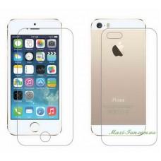 Захисне скло iPhone 5, 5S -комплект (переднє та заднє)