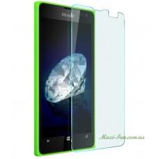 Защитное стекло Nokia Lumia 435, 532 (Microsoft) прозрачное, 9H (2.5D)