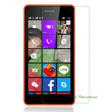 Защитное стекло Nokia Lumia 540 (Microsoft) прозрачное, 9H (2.5D)