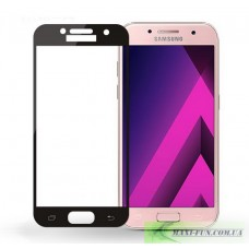 Захисне скло Samsung A320 (A3 2017 року) Black Full Screen, 9H (2.5D)