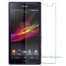 Защитное стекло Sony Xperia C (C2305/S39h) прозрачное, 9H (2.5D)