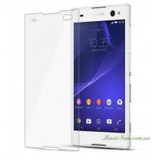 Защитное стекло Sony Xperia C3 (D2533) прозрачное, 9H (2.5D)