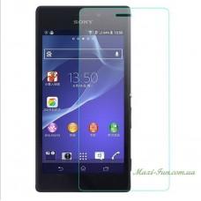 Защитное стекло Sony Xperia M2 (D2302) прозрачное, 9H (2.5D)