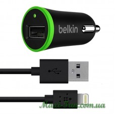 АЗУ Belkin USB 2.1A Black + USB Cable iPhone 5 (5S, 5C, 6, 6s, 6 Plus, 6s Plus, 7, 7s, iPad 4, mini) BK078