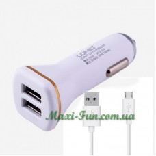 АЗУ LDNIO 2*USB 2.1A White (DL-C219) + кабель microUSB