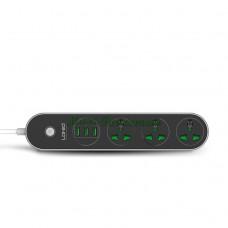 Сетевой фильтр с зарядкой для телефона LDNIO SC3301 3.1A, 3*USB + 3 розетки