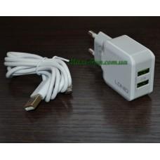 СЗУ LDNIO DL-A2202 2.4A, 2*USB, White