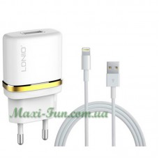 Мережевий ЗП LDNIO DL-AC50 (1A) з кабелем iPhone 6, 7