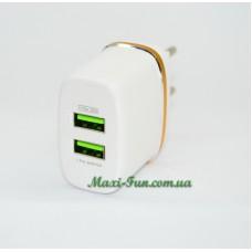 Мережевий ЗП LDNIO DL-AC52 (2.4A, 2USB) з кабелем Apple Lightning (iPhone / iPad)