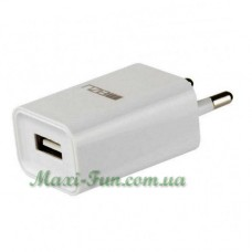 Зарядний пристрій мережевий Meizu 2.1А, USB, кабель microUSB, колір - білий.